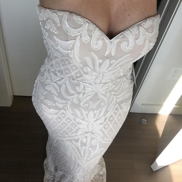 e7458452a50f0 Lulu's Dresses | Olivia White Sequin Strapless Maxi Dress | Poshmark